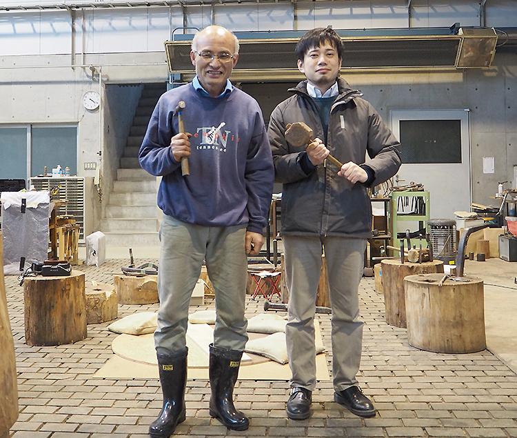 永見教授と石川